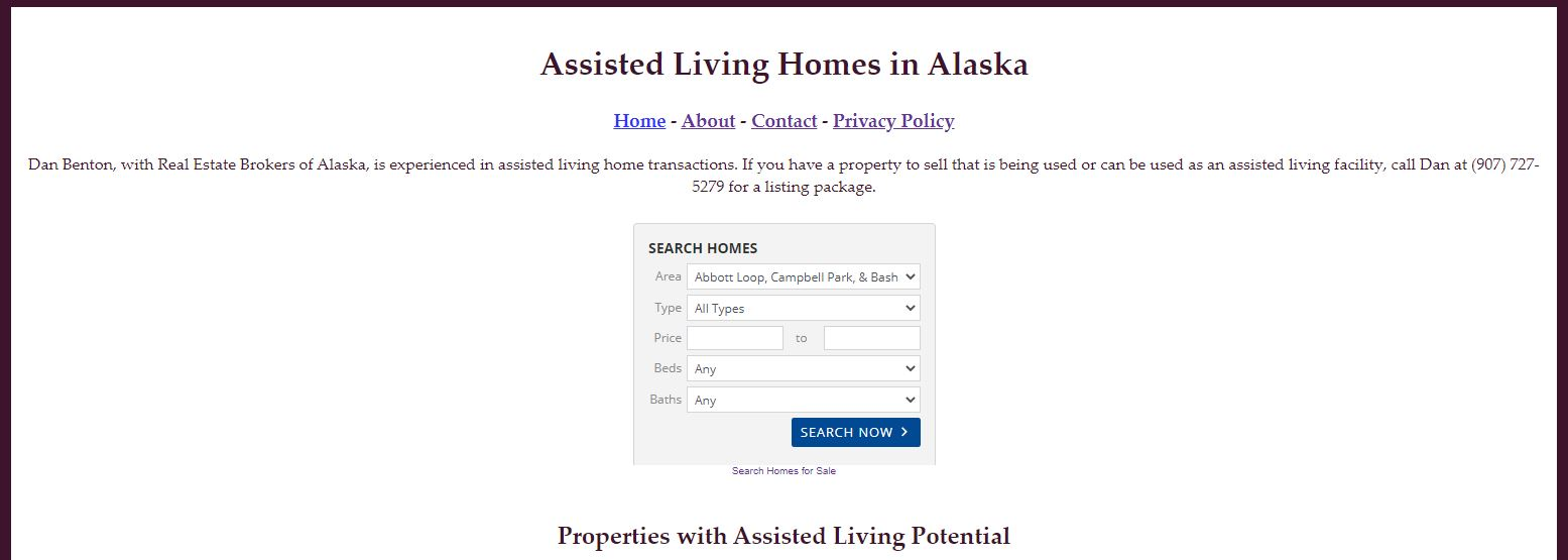 assistedlivinginalaska.com - assisted living properties for sale in Alaska