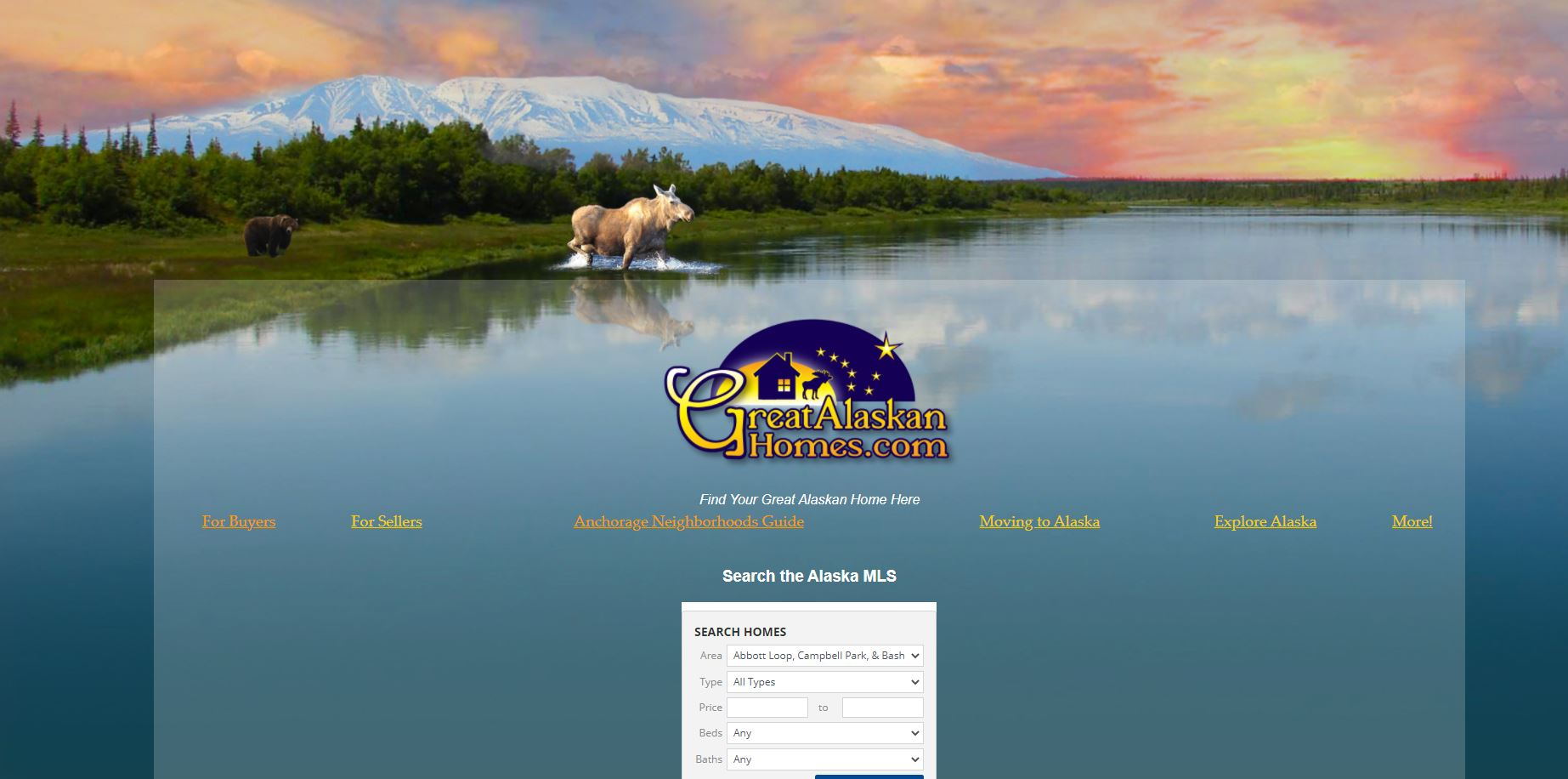 greatalaskanhomes.com - Alaskan living and real estate and home ownership resources